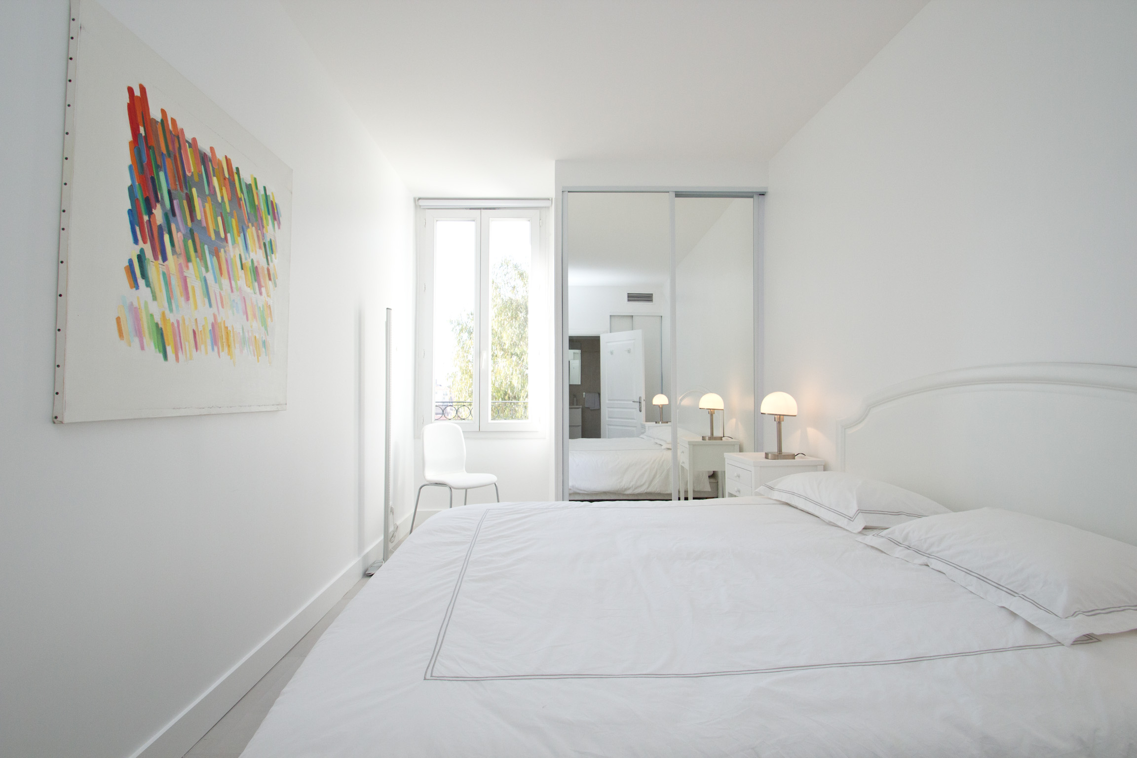 Appartement 2 chambres louer cannes carnot blanc bleu for Appartement a louer bruxelles 1 chambre