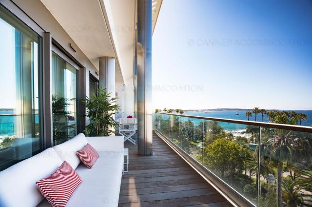 Holiday apartment and villa rentals: your property in cannes - Terrace - 7 Croisette 7C702