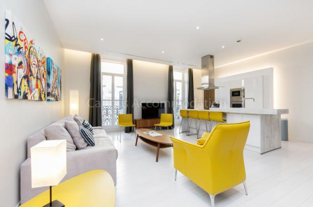 Holiday apartment and villa rentals: your property in cannes - Hall â?? living-room - Clic 20