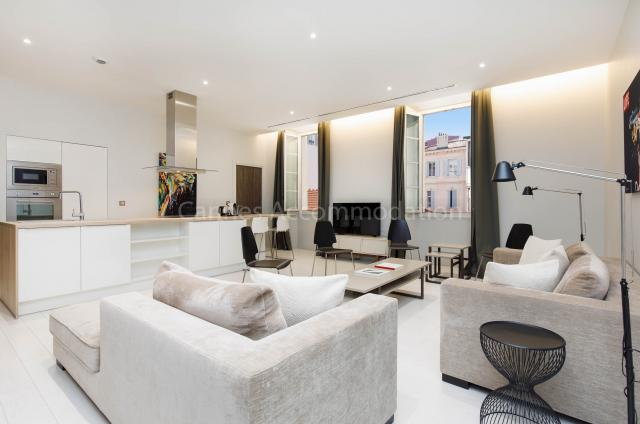 Holiday apartment and villa rentals: your property in cannes - Hall â?? living-room - Clic 21
