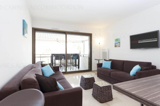 Holiday apartment and villa rentals: your property in cannes - Hall â?? living-room - Gray 4D5